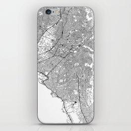 Athens White Map iPhone Skin