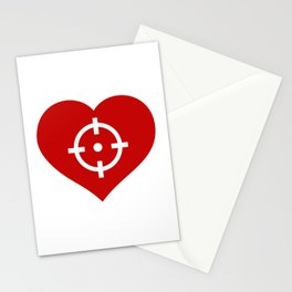 Heart as target Stationery Cards