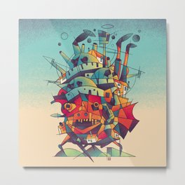 Moving Castle Metal Print