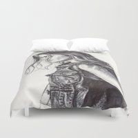 cassandra jean Duvet Covers featuring Jean  by Alcnwndrlnd