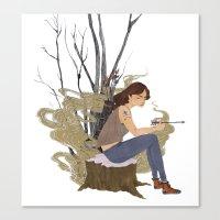 allison argent Canvas Prints featuring Allison Argent, Winter by strangehats