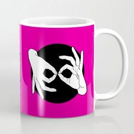 Sign Language (ASL) Interpreter – White on Black 05 Coffee Mug