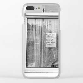 dog poo Clear iPhone Case
