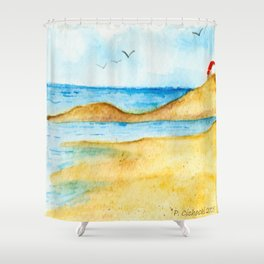 Bright Summer's Day Shower Curtain
