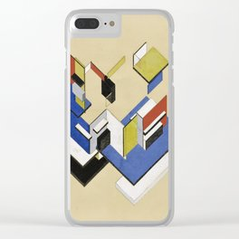 Theo van Doesburg - Contra-Construction Project (Axonometric) - Abstract De Stijl Painting Clear iPhone Case