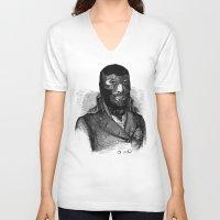 wrestling V-neck T-shirts featuring Wrestling mask by DIVIDUS