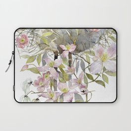 Stork Nest on a Clematis Bush Spring Mood Laptop Sleeve