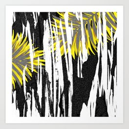 Abstract Palm Tree Leaves Design Art Print