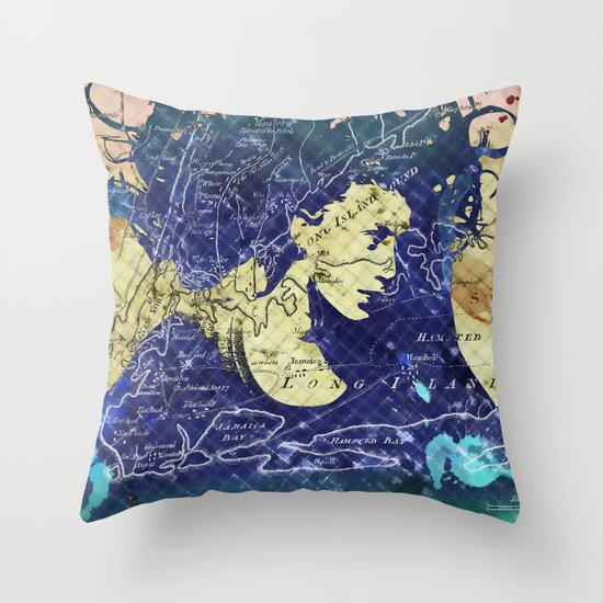 Lady of the Lake. Throw Pillow