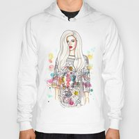 selena gomez Hoodies featuring selena illustration by sparklysky