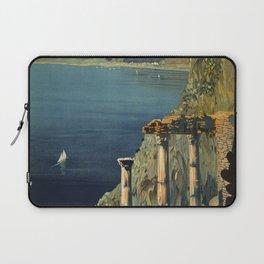 Vintage Taormina Sicily Italian travel ad Laptop Sleeve