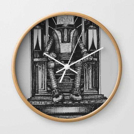 Pax Robota - B&W Wall Clock