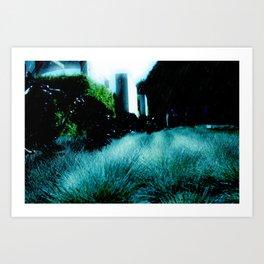 Alien Landscape - Getty Museum Gardens in Los Angeles Art Print