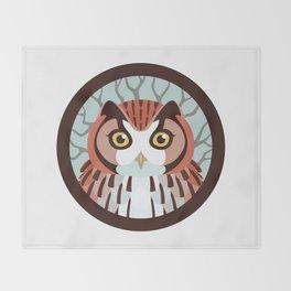 Eastern Screech Owl Throw Blanket