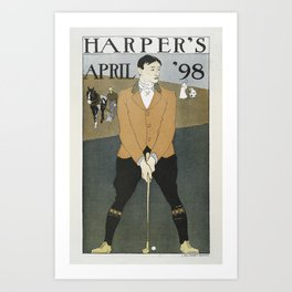 Harper's April golf Art Print
