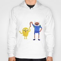 finn and jake Hoodies featuring Finn And Jake! by Ben Morgan