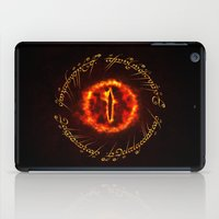 gondor iPad Cases featuring Eye Of Sauron by Inara