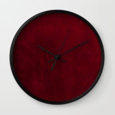 VELVET DESIGN - red, dark, burgundy Wall Clock