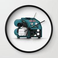 tool Wall Clocks featuring Tool Compressor by Steve Savalle