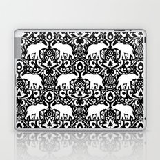 Elephant Damask Black and White Laptop & iPad Skin