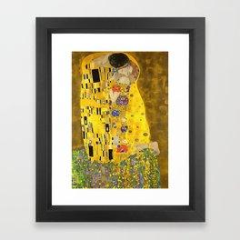 The Lovers Kiss After Klimt Framed Art Print