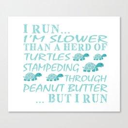 I love to run Canvas Print