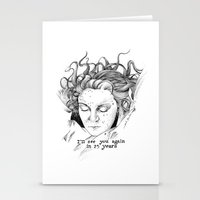 laura palmer Stationery Cards featuring Laura Palmer by Paula Benítez