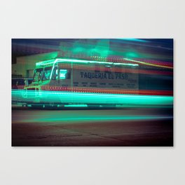 Milwaukee Taco Truck Long Exposure at Night Canvas Print