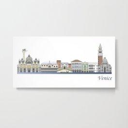 Venice skyline colored Metal Print