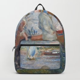Auguste Renoir Oarsmen at Chatou 1879 Painting Backpack