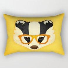 Hipster Badger: Gold Rectangular Pillow