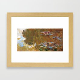 1917-Claude Monet-The Water Lily Pond Framed Art Print