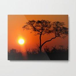 Zimbabwe Sunset Metal Print
