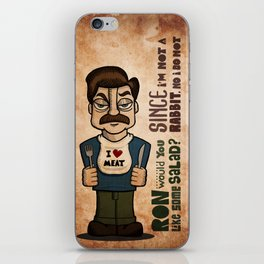 Ron Swanson 2 iPhone Skin