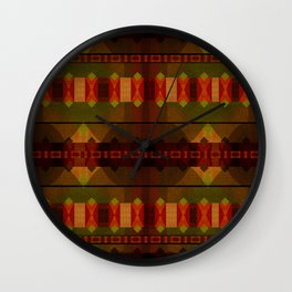 """Full Colors Tribal Pattern"" Wall Clock"