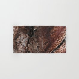 burned wood texture Hand & Bath Towel
