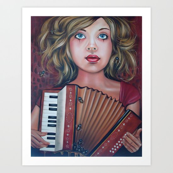 The Accordianist  Art Print