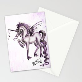 Unicorn with Bat Wings Stationery Cards