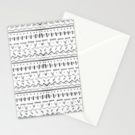 Sketchy Pattern in Black Stationery Cards