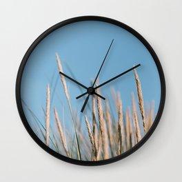Beach grass    Calm natural minimalistic fine art travel photography  Wall Clock