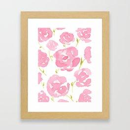 Pink Roses Framed Art Print