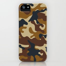 Brown Army Camo Camouflage Pattern iPhone Case