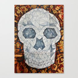 Galvanized Skull Canvas Print