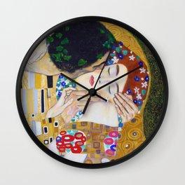 The Kiss by Kustav Klimt - Version by Nymphainna Wall Clock