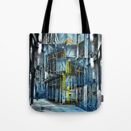 """""""...With the zahra universes / Hung in middle space..."""" Tote Bag"""