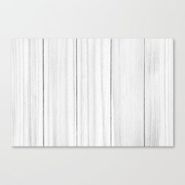 White Wood Texture Canvas Print