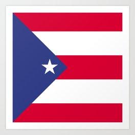 Puerto Rico flag emblem Art Print