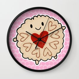 Jammie Dodger Watercolour Wall Clock