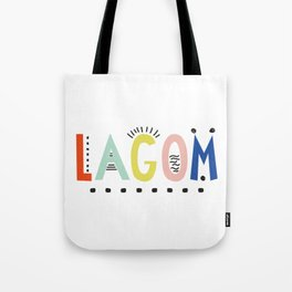 Lagom colors Tote Bag
