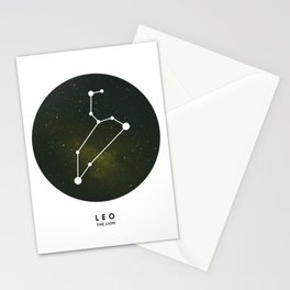 Leo - Star Constellation Stationery Cards